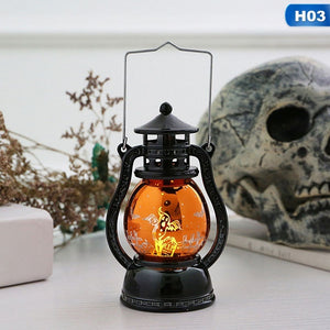 2019 Halloween Led Lantern Vintage Witch Castle Led Light Lamp Party Hanging Decor