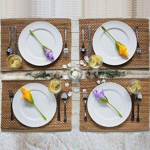 20/30/50Pcs Bloom Napkin Holders for Table Plastic Twist Flower Serviette Holder(No Napkin)