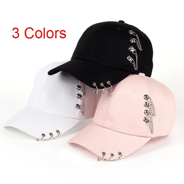 Adult Bts Casual Solid Adjustable Iron Ring Baseball Caps Snapback Cap Casquette Hats Fitted Casual Hats