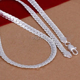 5MM 925 Solid Sterling Silver Necklace Chain 20 inch Fashion Men Women