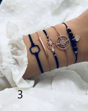 Load image into Gallery viewer, 20 Style/set Vintage Flamingo World Map Turquoise Multilayer Bracelet Set Fashion Bowknot Heart Moon Tassel Beads Bangle Bracelets Jewelry Sets