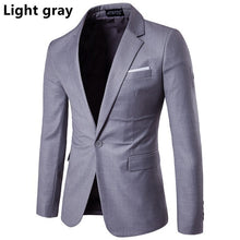 Load image into Gallery viewer, Mens Business and Leisure Suit Groomsman Wedding blazer A Grain of Buckle  Men's Suit Coat