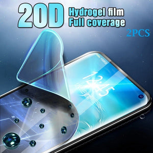 2PCS Screen Protector Hydrogel Film For Samsung Galaxy S10 S10Plus S10e S10(5g) S9 S9Plus S8 S8Plus Note8 Note9 Note10 Note10Pro Protective Film For Huawei P30 P30Pro P20 P20Lite P20Pro Mate20 Mate20Lite Mate20Pro For iPhone X Xs Xr Xs Max Not Glass