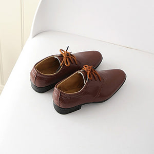 New Fashion Soft hand feeling Kids Shoes Leather Shoes Boys Girls Children Infant Kids Baby Boys British Style Student Perform Casual Shoes