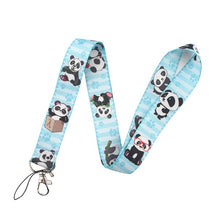 Load image into Gallery viewer, 1pcs Panda Multi-function mobile phone key strap rope ID card lanyard neckband mobile phone decoration