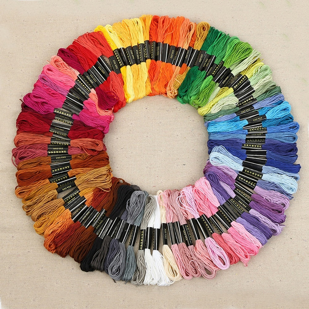 Embroidery Floss Thread Craft Floss Set for Friendship Bracelets 50-150 Skeins Rainbow Colors with Embroidery Tools