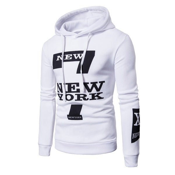 Men's Sports Cotton High Quality Casual New York Letter Print Sweater Hoodie Pants Fashion Set Pants+Top
