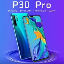 Load image into Gallery viewer, Mobile Phones Androidsmartphone P30pro Smartphones with 6+128GB Ultra-thin Smartphone with Face/Fingerprint Lock Cellphone Dual SIM Cards Phone Support T Card  Smart Phones 10 Core