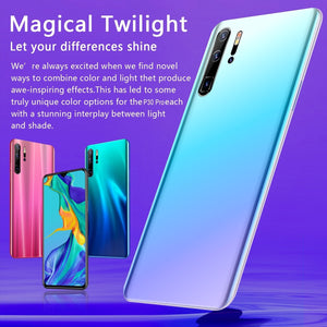 Mobile Phones Androidsmartphone P30pro Smartphones with 6+128GB Ultra-thin Smartphone with Face/Fingerprint Lock Cellphone Dual SIM Cards Phone Support T Card  Smart Phones 10 Core