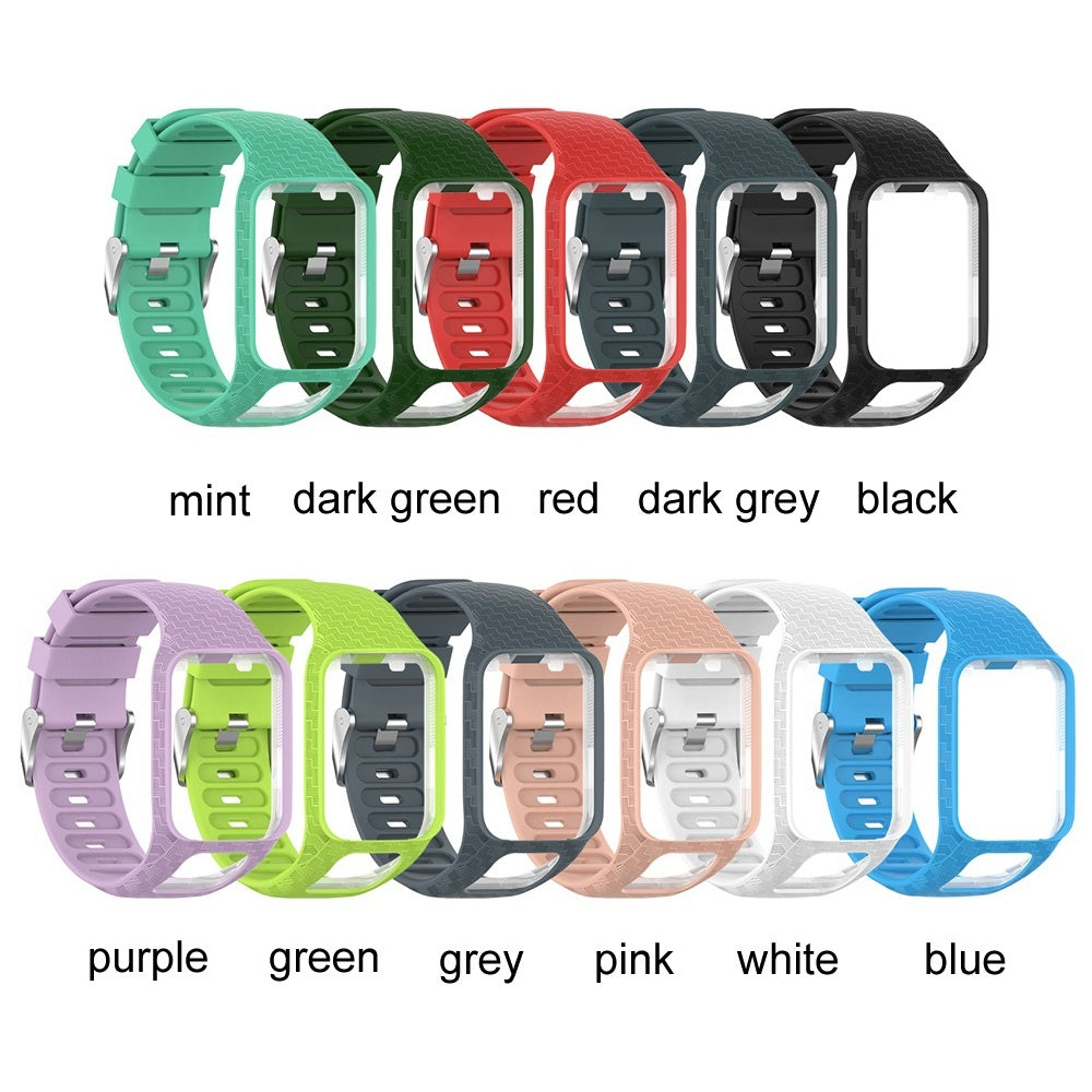 Soft Wristband 3D Bracelet Silicone Replacement Watch Band Strap Fit For TomTom Runner 2 3 Spark 3