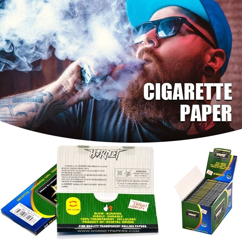 50/100/200/300/400/500pcs Transparent Rolling Paper Convenient Creative Cigarette Rolling Paper Herb Smoking Rolling Papers Cigarette Papers(Size:110mm/78mm)