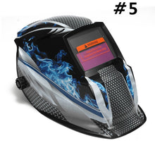 Load image into Gallery viewer, (6Types) UV/IR Protection Welding Helmet Solar Powered Auto Darkening Hood Grinding Welding Mask