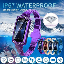 Load image into Gallery viewer, Smart Watch Women Waterproof Heart Rate Monitoring Stainless Steel Smart Watch Fitness Bracelet Smartwatch for IOS/Android