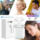 TWS Wireless Bluetooth 5.0 Smart Touch Earbuds Super Bass Stereo Sports Headphone With Charging Box