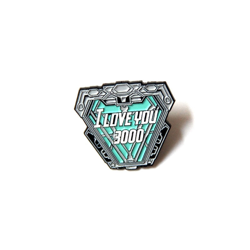 I Love You 3000 Cartoon Brooch Used for Backpack/Bag/Clothes Badge Brooch T-shirt Collar Jewelry 1pcs