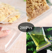 Load image into Gallery viewer, 200Pcs 4X6CM Small Ziplock Clear Poly Bag Reclosable Plastic Jewelry Baggies