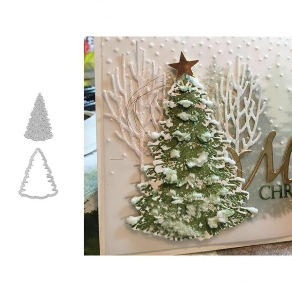 Christmas Tree Metal Cutting Dies Christmas Stencil For DIY Scrapbooking Paper Card Decorative Craft Embossing Die Cuts New