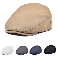 Load image into Gallery viewer, JANGOUL Boys Vintage Newsboy Cap Cotton Flat Beret Cabbie Hat for Kids Toddler Pageboy New4
