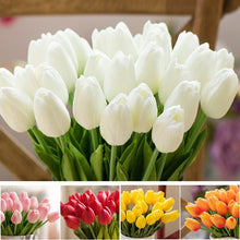 Load image into Gallery viewer, 2pcs Tulip Artificial Flower Real Touch Artificial Bouquet Fake Flower for Wedding Decoration Flowers Home Garden Decor