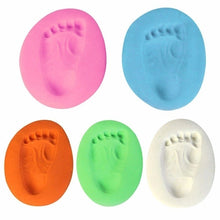 Load image into Gallery viewer, 2 Bags x 30g Baby Hand Foot Inkpad Drying Soft Clay Baby Handprint Footprint Imprint Casting Parent-child Hand Inkpad Fingerprint
