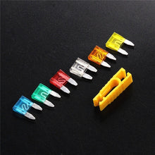 Load image into Gallery viewer, 120pcs 5/10/15/20/25 / 30A Fuse Profile Small Size Mini Fuse Assortment Set for Auto Truck