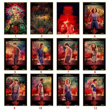 Load image into Gallery viewer, 2019 New Stranger Things Season 3 Retro Posters TV Movie Kraft Paper Prints Art Wall Painting For Living Room Wall Bedroom Decor 42x30cm