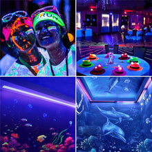 Load image into Gallery viewer, LED UV Black Light Fixtures,DJ Equipment,30cm Black UV Light Bar 24 LED Strip Lights Party Club Stage Blacklight Halloween Home Decor