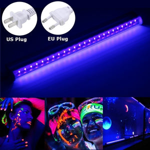 LED UV Black Light Fixtures,DJ Equipment,30cm Black UV Light Bar 24 LED Strip Lights Party Club Stage Blacklight Halloween Home Decor