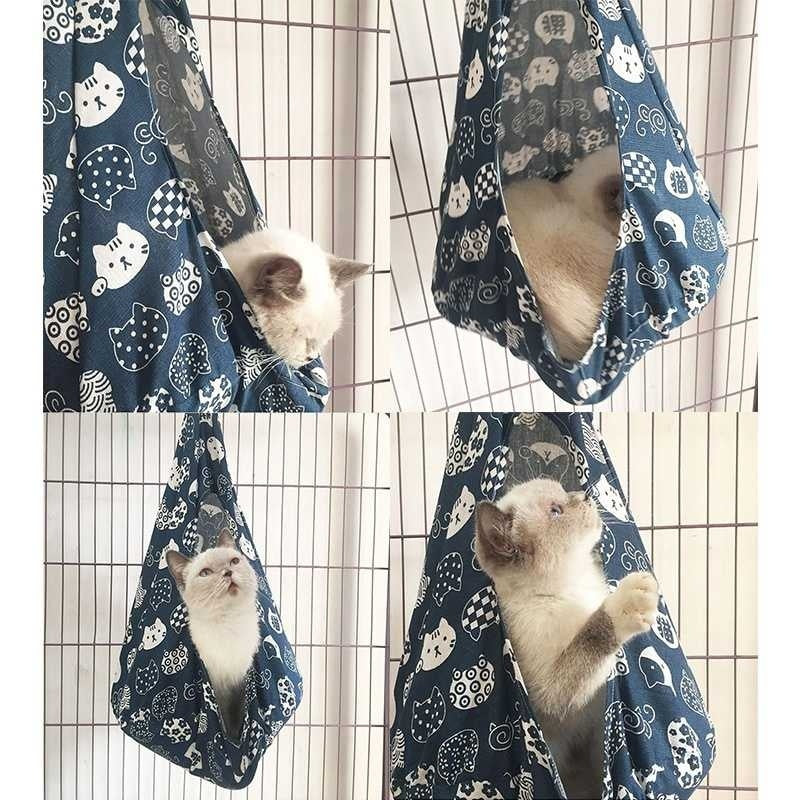 4 Colors Removable Pet Hanging House Cat Conical Hammock Lightweight Washable Puppy Hammock Breathable Comfort Pet Supplies