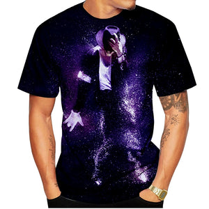 New Fashion Women/Men's 3D Print Michael Jackson MJ Casual T-Shirts