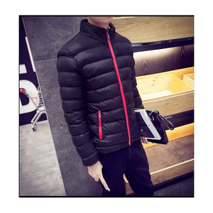 Men's Autumn and Winter Warm Zipper Jacket Cotton Padded Coat Warm Cotton Coat Jacket
