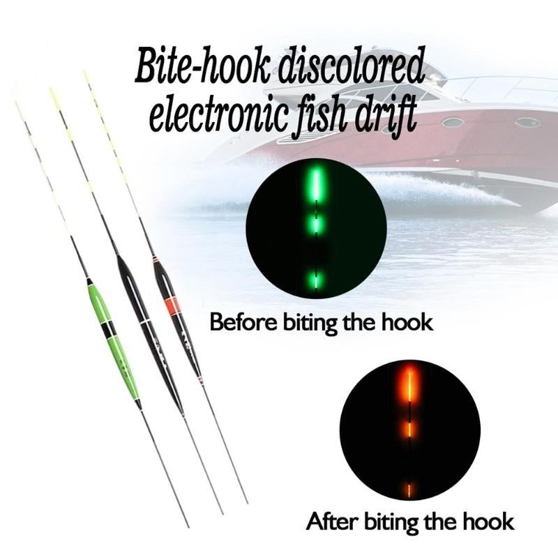 1Pcs Buoy Strike LED Light Color Change Electronic Indicator Bite Alarm Light Stick Floats Fishing Lure Floats Bobbers