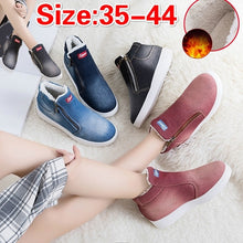 Load image into Gallery viewer, Women Jean Style Boots Snow Warm Winter Fur Ankle Boots Ladies Boots