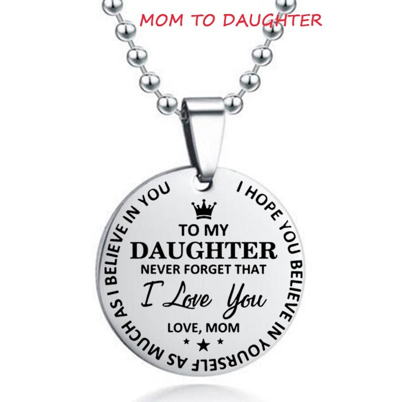 Mom Dad To Son Daughter, Never Forget I Love You Key Chain Necklace,I Hope You Believe In Yourself As Much As I Believe In You Key Rings Necklace Gift for Child Boy Girl Son Daughter