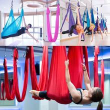 Load image into Gallery viewer, 1pc Anti-Gravity Elastic Yoga Aerial Inversion Swing Hammock Sling Strap