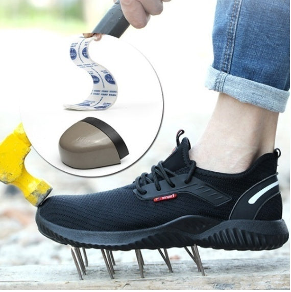 2019 New Men's Large Size Lightweight Fashion Shoes Anti-smashing Anti-puncture Safety Work Boots Outdoor Protective Shoes