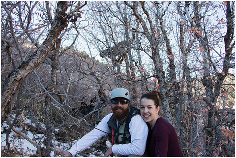 Hunting Family, Spouse, Husband, Wife, Lion in a tree, Mountain, Utah Mountains, Southern utah