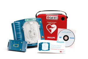 Open Box HeartStart OnSite AED with Ready-Pack configuration, Standard Carrying Case