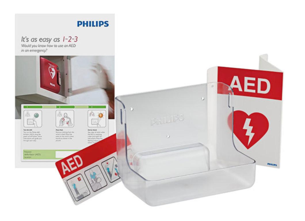 AED Wall Mount and Signature Bundle - English