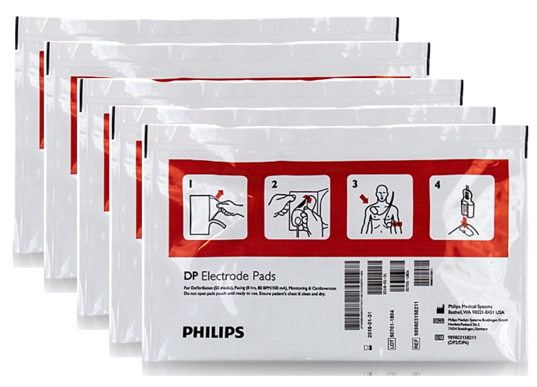 Philips AED Pads (5 pairs) - Adult