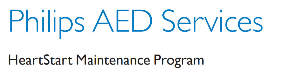HeartStart AED Services Maintenance Program - Five year program