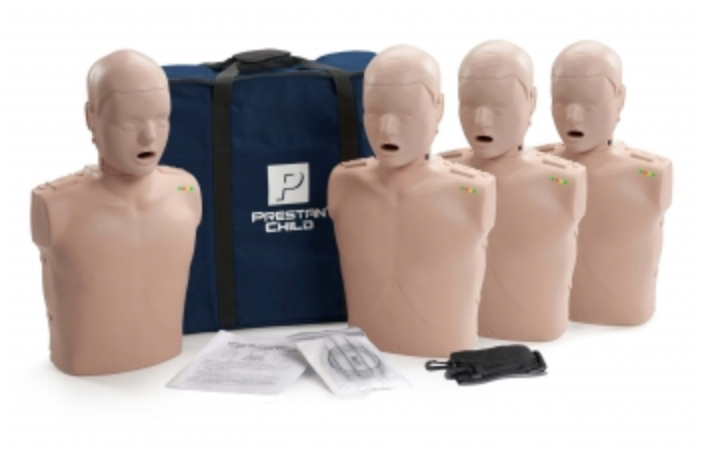 CPR Manikin Prestan Child 4-Pack with CPR Monitor