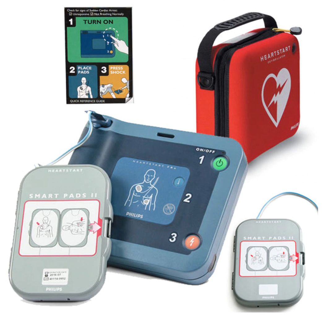 HeartStart FRx AED with Ready-Pack configuration, Standard Carrying Case