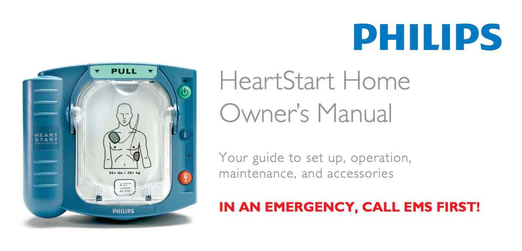 Manual, Instructions for Use - HeartStart Home - English