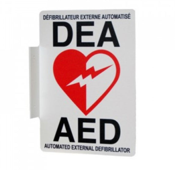 AED Wall Sign 5x7- bilingual - specify English/French or French/English