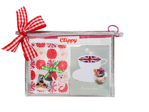 Clippy London Photo Display Make Up Bag