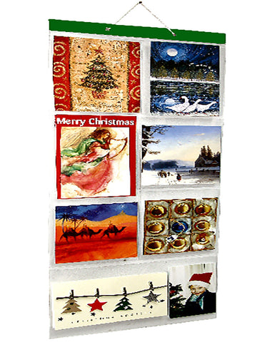 Xmas Card Pockets (18 cards in 7 pockets) PACK OF 2