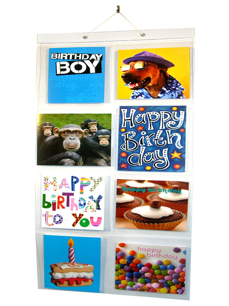Birthday Card Pockets (18 cards in 7 pockets) PACK OF 3