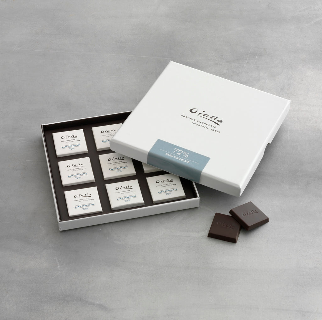 Gift box - 72% organic dark chocolate