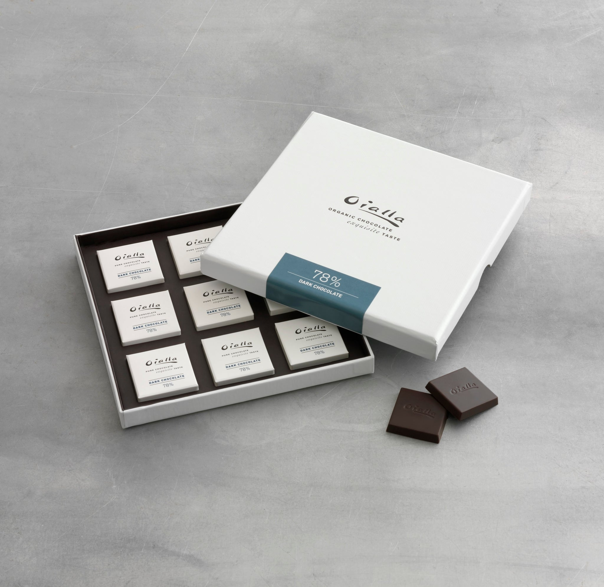 Gift box - 78% organic dark chocolate
